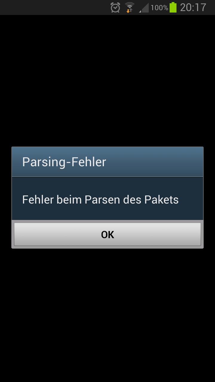 Parsing-Fehler